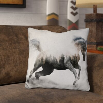 Oliverio Horse Andreas Lie Throw Pillow