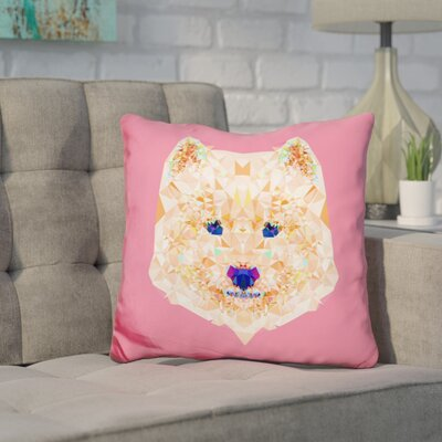 Corker Samoyed Throw Pillow