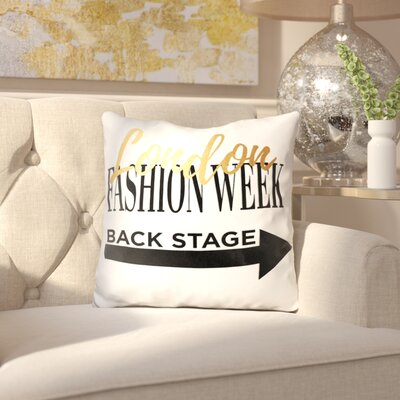Oma Fashion Week London Throw Pillow