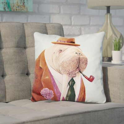 Jeffords Walrus Throw Pillow