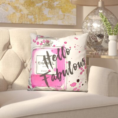 Carlie Hello Fabulous Throw Pillow
