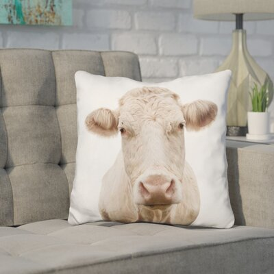 Hoggan Cow Throw Pillow Color: Brown