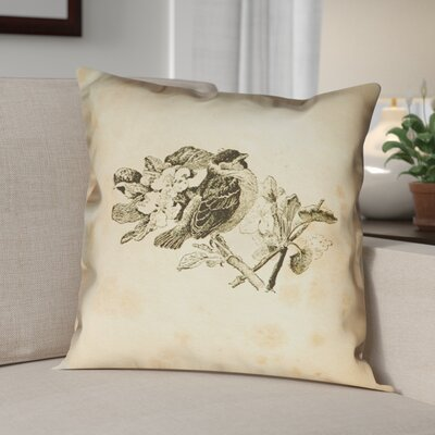 Venezia Vintage Bird Double Sided Throw Pillow Size: 14 x 14