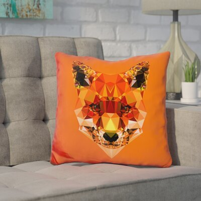 Corker Fox Throw Pillow