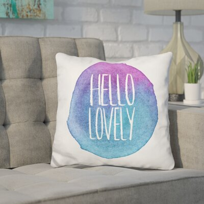 Cornette Hello Lovely Throw Pillow