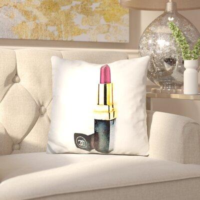 Jahnke Lipstick Throw Pillow