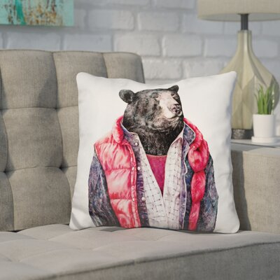 Heslin Bear Throw Pillow