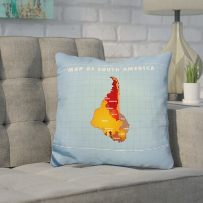 Kamen Upside Down South America Throw Pillow