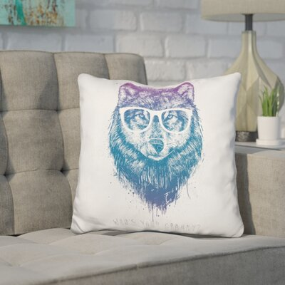 Hersey Whos Your Granny Throw Pillow Color: Blue