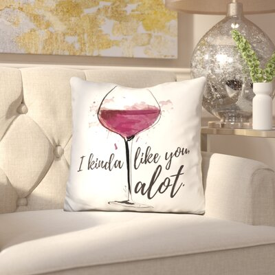 Tallia Wine Lover Throw Pillow