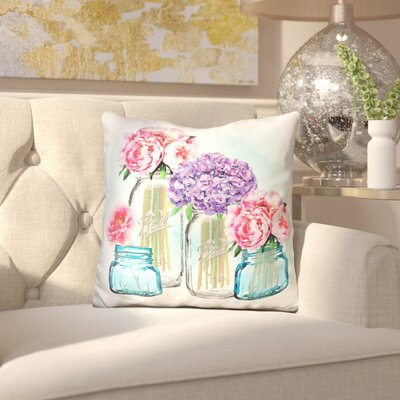Christian Glass Jar Tall Collection Wash Throw Pillow