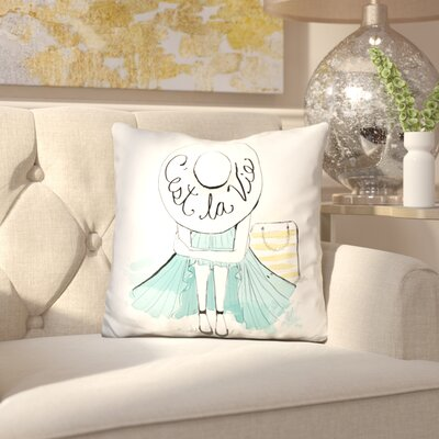 Elvire Cestlavie Throw Pillow