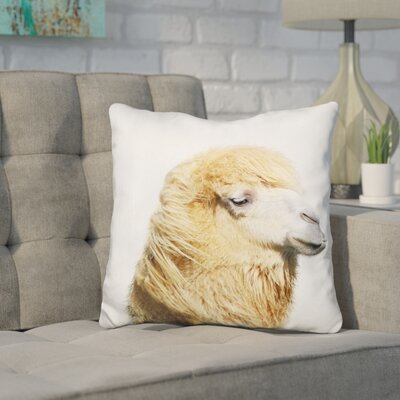 Hofstetter Camel Throw Pillow Color: Brown