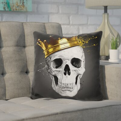 Kendricks Royal Skull Throw Pillow