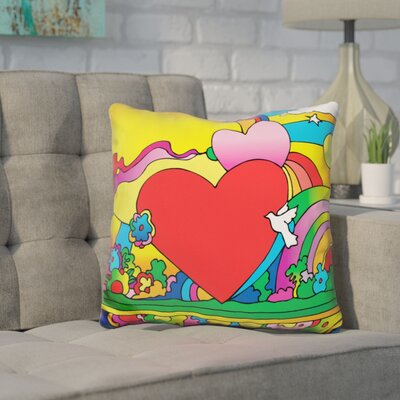 Corinna Heart Landscape Throw Pillow