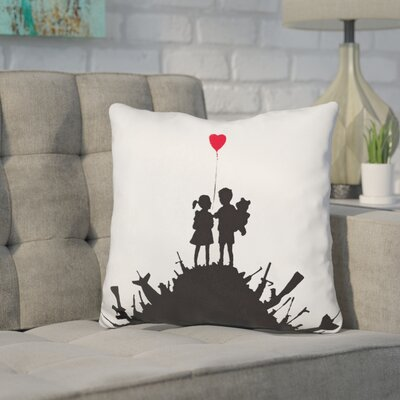 Kang Kids on Guns Hill Throw Pillow