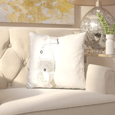 Eibhlin Bonjour Throw Pillow
