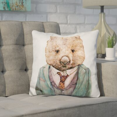 Jelinek Wombat Throw Pillow