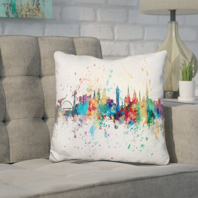 Jarnagin Glasgow Scotland Throw Pillow