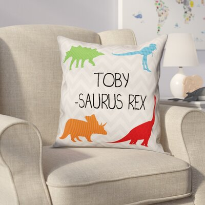 Heckman Name-Saurus Rex Throw Pillow