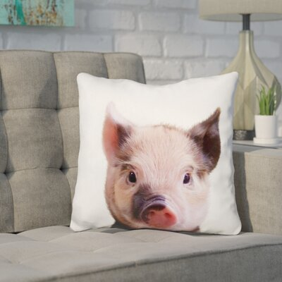 Kellum Piglet Throw Pillow Color: Pink