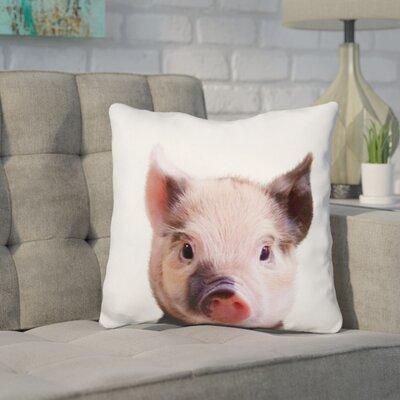 Kellum Piglet Throw Pillow Color: Pink