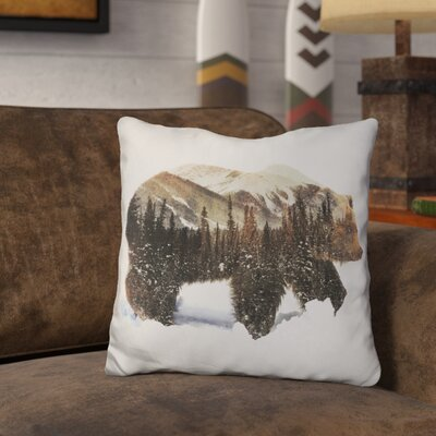 Okelly Grizzly Bear Throw Pillow