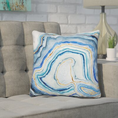 Harpster Cobalt Agate Throw Pillow