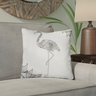 Chew Magna Flamingo Throw Pillow