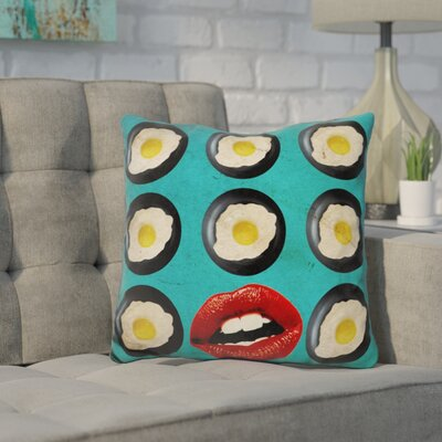 Kanagy One Egg A Day Throw Pillow