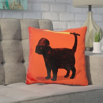 Core Cat Vader Throw Pillow