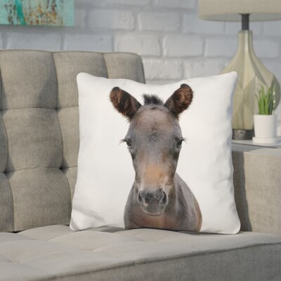 Holcombe Foal Throw Pillow Color: Brown