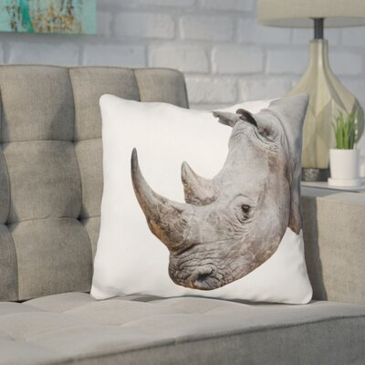 Kelston Mills Rhino Throw Pillow Color: Gray