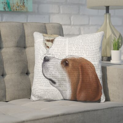 Coria Beagle Ice Cream Throw Pillow