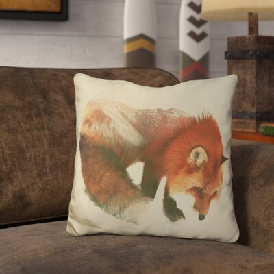 Oller Snow Fox Throw Pillow