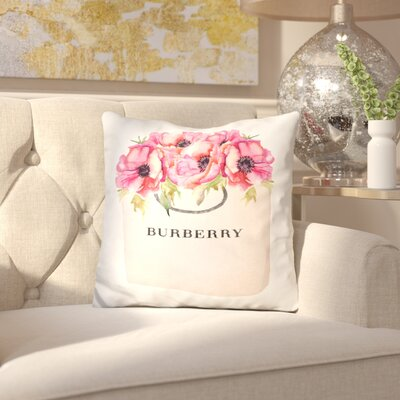 Jaramillo Burberry Bag Poppy Throw Pillow