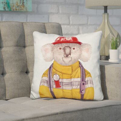 Hesse Koala Firefighter Throw Pillow