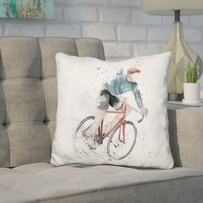 Hartt I Want to Ride My Bicycle Throw Pillow