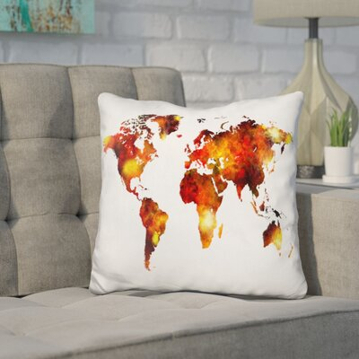 Corlew World Map Painting Throw Pillow