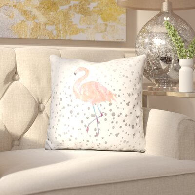 Izayah Flaming Silver Dots Throw Pillow