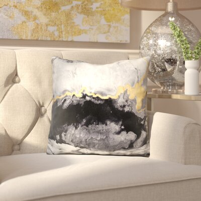 Dunsmore Gilded Onyx Throw Pillow
