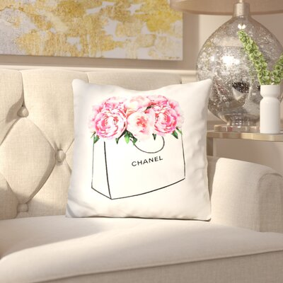 Islas Shopper Peony Throw Pillow