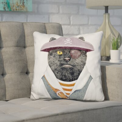 Hewes Pirate Cat Throw Pillow