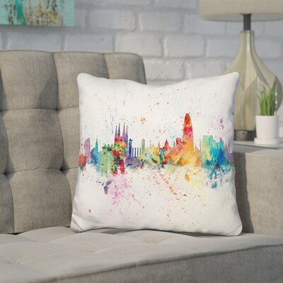 Jantz Barcelona Spain Throw Pillow