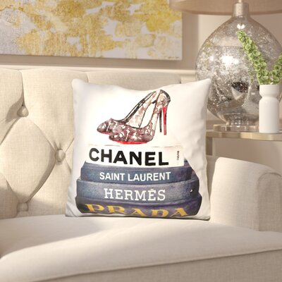 Jantz Bool Stack Make Up Lace Shoes Throw Pillow