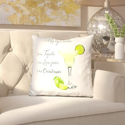 Kent Margarita Receipe Throw Pillow