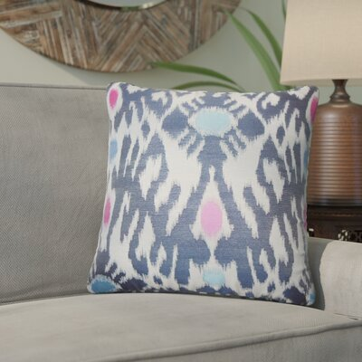 Aahil Ikat Throw Pillow Color: Blue