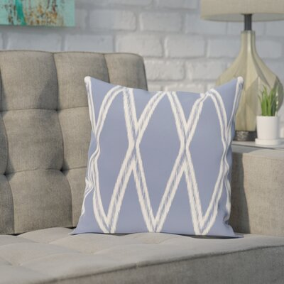 Broadhurst Geometric Print Throw Pillow Size: 18 H x 18 W x 1 D, Color: Cornflower