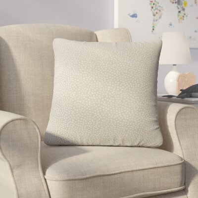 Bartlett Polka Dot Throw Pillow Color: Jute