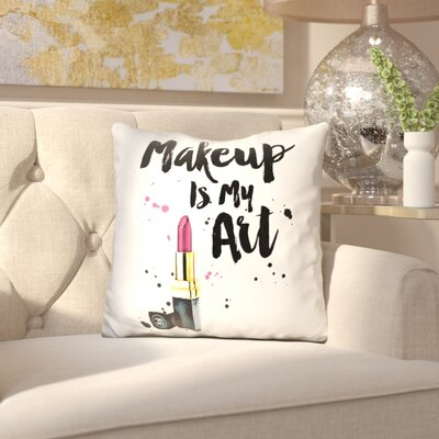 Mauricio Make Up is My Art Throw Pillow